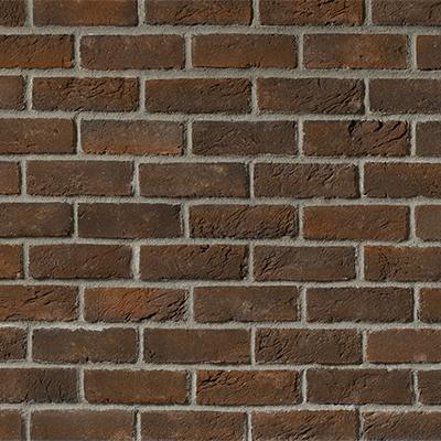 Thin brick fireplace stone patio for Rustic brick veneer