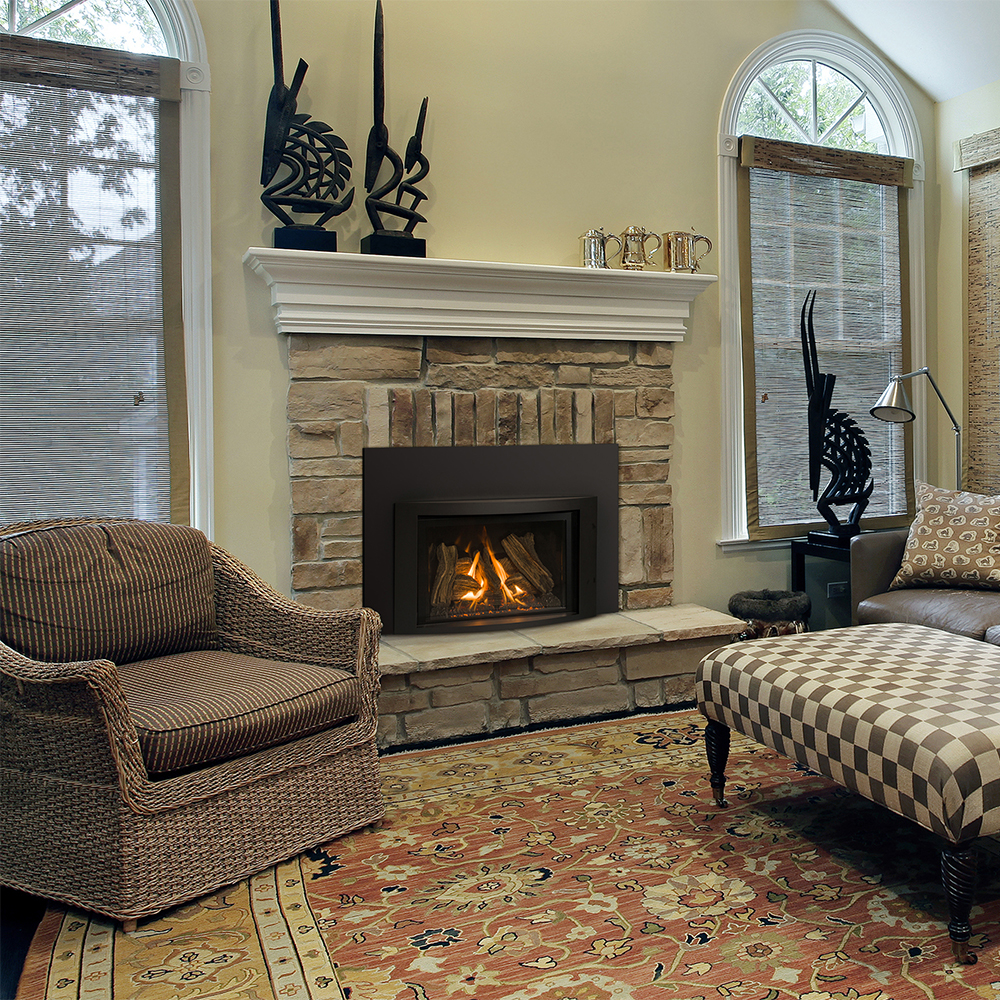 Gas Direct Vent Inserts | Fireplace Stone & Patio