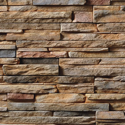 Manufactured stone fireplace stone patio for Rustic brick veneer