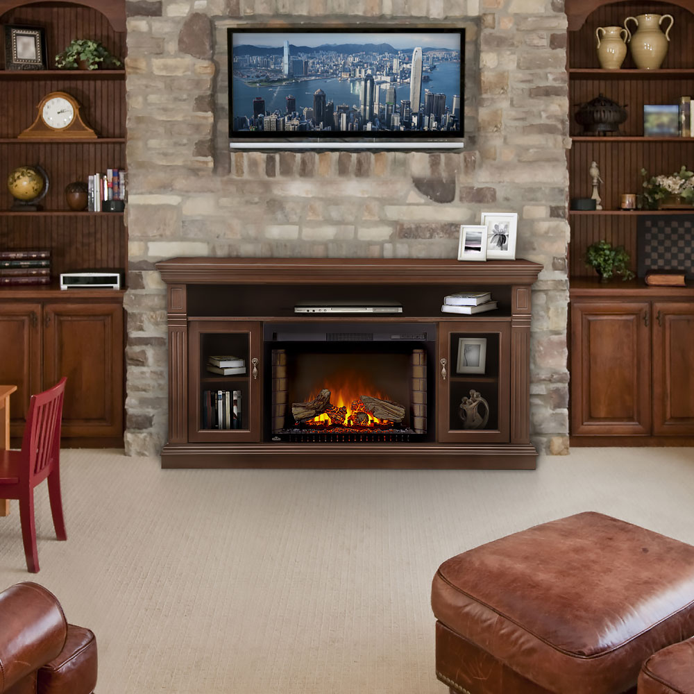 Stone Fireplace In Center Of Room Fireplace And Stone Center