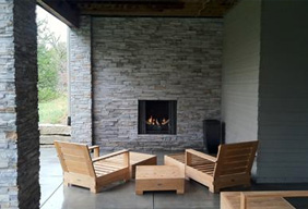 Outdoor Fireplace Remodel