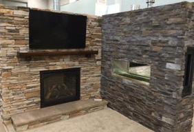 Omaha Home Garden Expo Fireplace Stone Patio - Omaha home and garden show