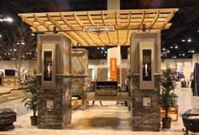 K V Home Show Expo 2013 Fireplace Stone Patio